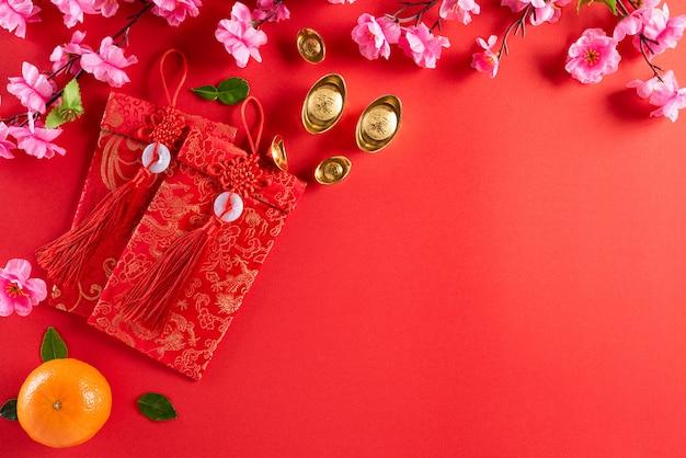 Китайские новогодние украшения Premium Фотографии
