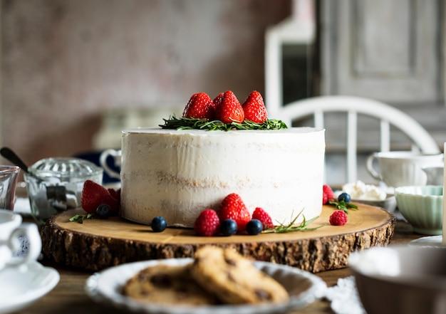 ケーキおいしいデザートベーカリーイベントパーティーレセプション Premium写真