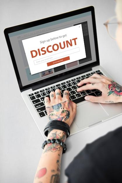 割引セールショッピングオンラインインターネット 無料写真