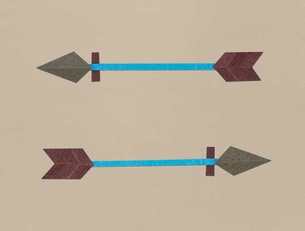 弓アーチェリーアイコンのシンボルのイラスト 無料写真