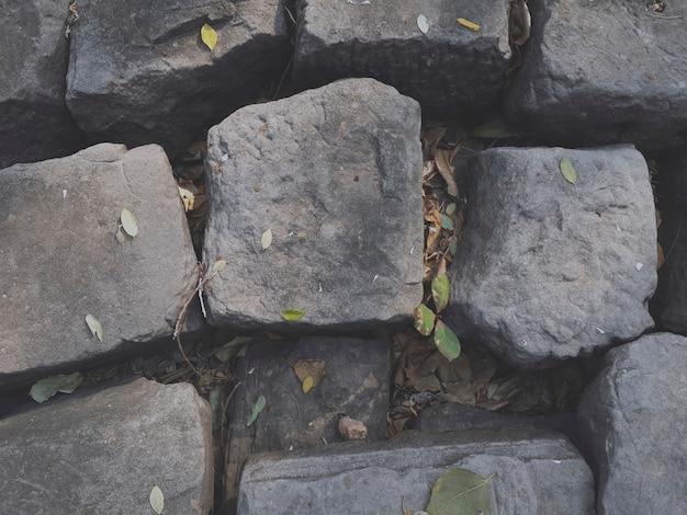 古いグレーストーンロックウォール 無料写真