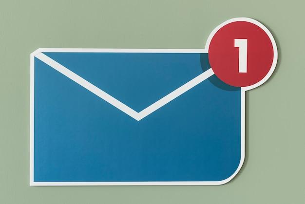 新しい受信メールのメールアイコン 無料写真