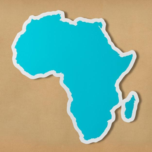 アフリカの無料の空白地図 無料写真