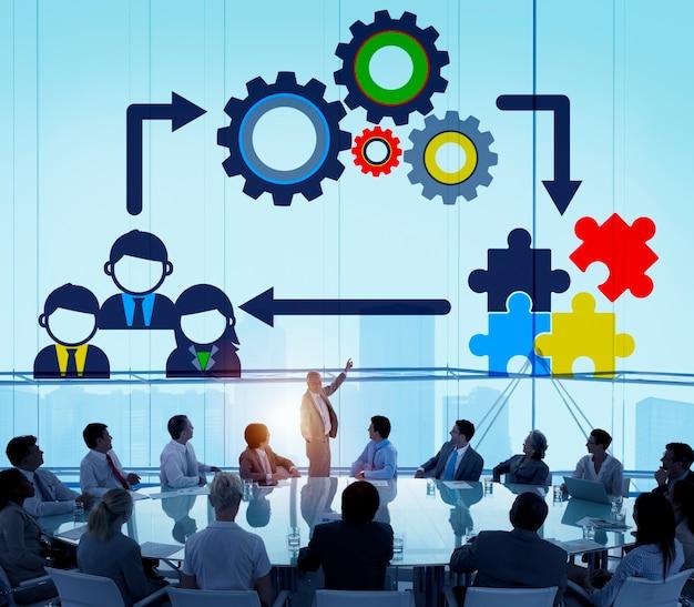 チームチームワークコラボレーション企業コンセプト 無料写真