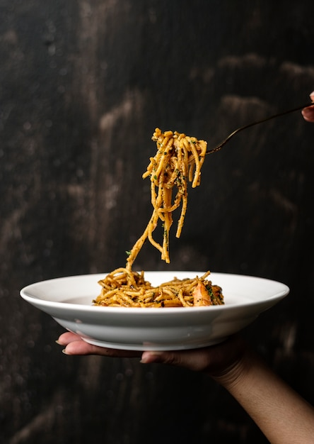 スパゲティイタリア料理 無料写真