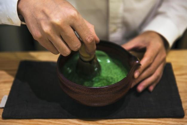伝統的な抹茶 無料写真