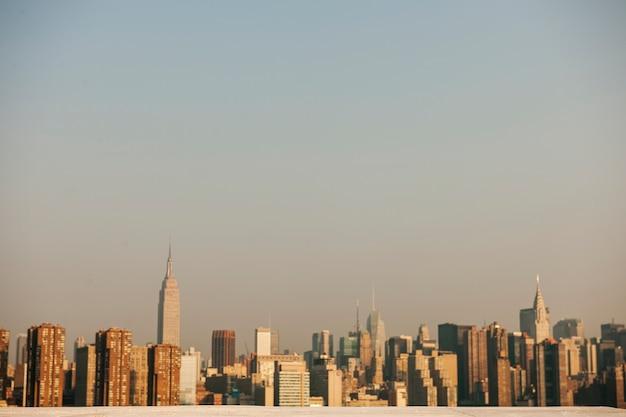 Взгляд города нью-йорка в дневное время Бесплатные Фотографии
