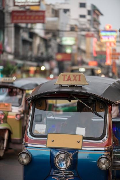 タイ・バンコクのトゥクトゥク 無料写真