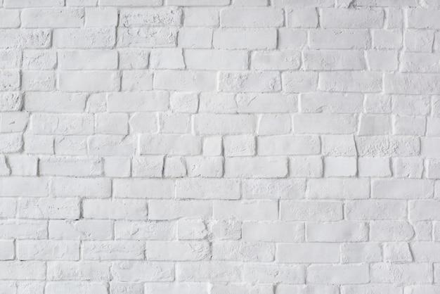 白く塗られた美しいレンガの壁 無料写真