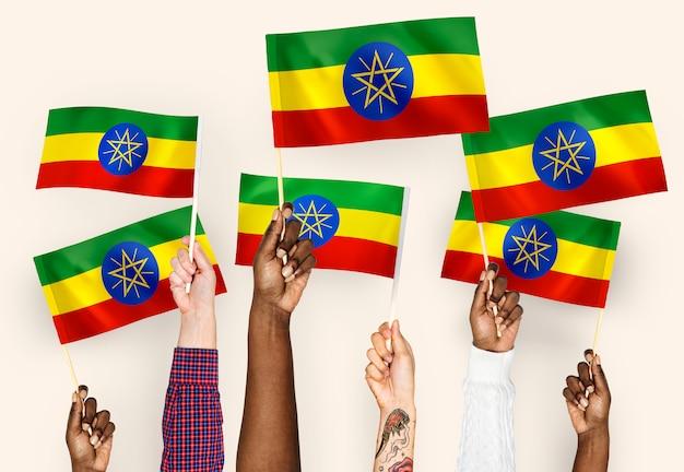 エチオピアの手を振る手 無料写真