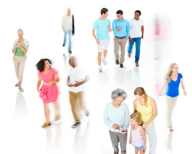 多様性コミュニティカジュアルな人々幸福の討論のコンセプト 無料写真