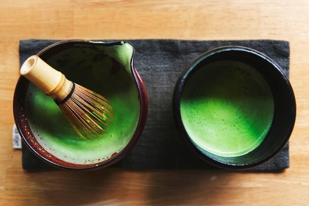 日本の抹茶文化コンセプト 無料写真