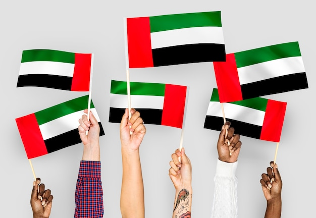 アラブ首長国連邦の手を振る手 無料写真