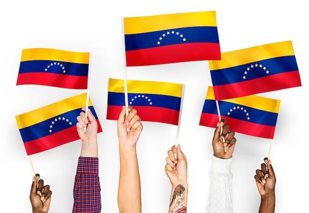 ベネズエラの手を振る手 無料写真
