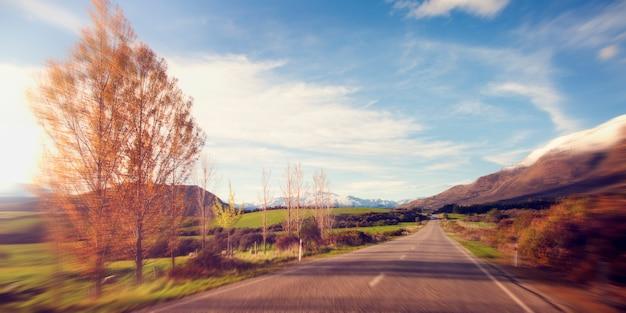 美しい道路風景 無料写真