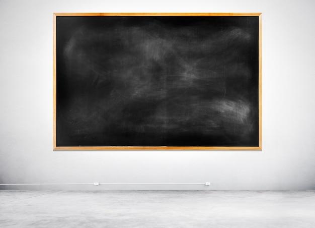 白い壁に白い黒い黒板 無料写真