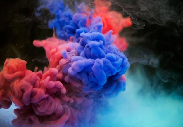 抽象的な青とオレンジの雲 無料写真