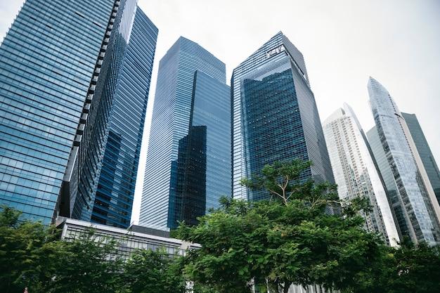 シンガポールのスカイライン 無料写真