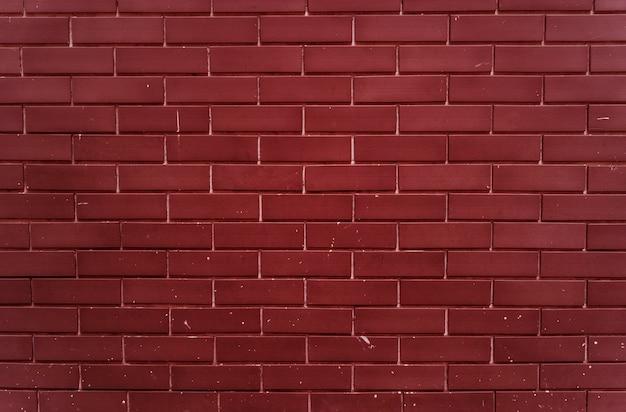 平地の明るい赤レンガの壁 無料写真