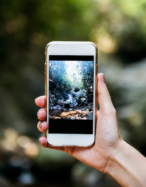 Макет мобильного телефона Premium Фотографии