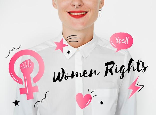 フェミニズム平等信頼女性 無料写真