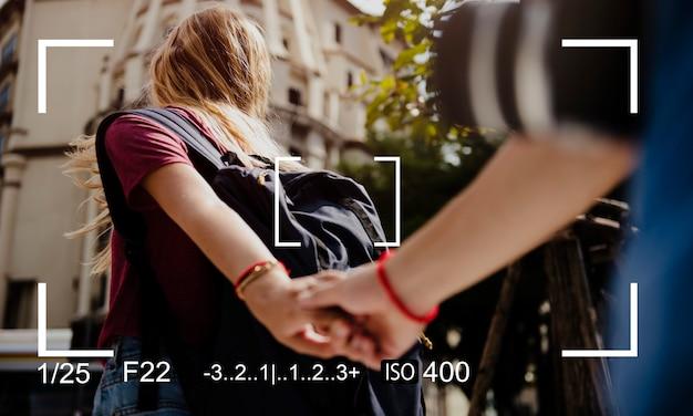 カメラ撮影フォーカス撮影空間をコピー 無料写真