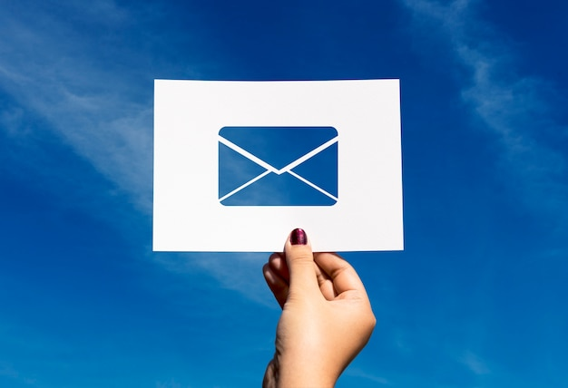 Письмо электронной почты, перфорированное бумажное письмо Бесплатные Фотографии