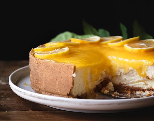 レモンチェスケーキの食べ物レシピのアイデア 無料写真