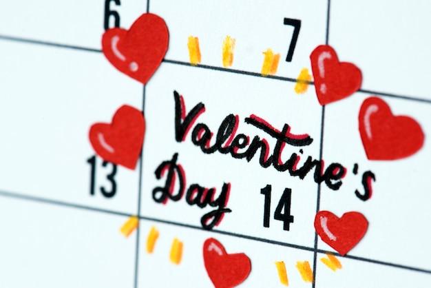 Напоминание календаря на день святого валентина Бесплатные Фотографии