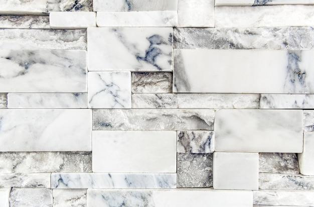 白い大理石のレンガの壁のテクスチャ壁紙 無料写真