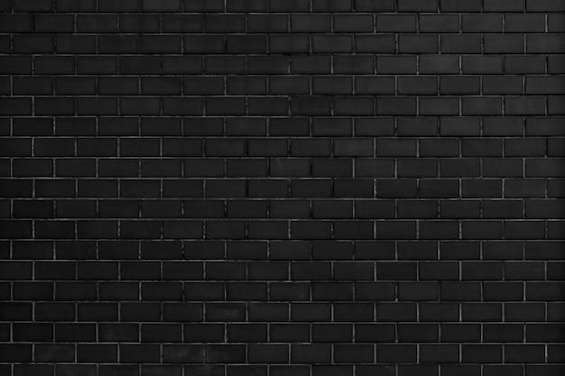 黒いレンガの壁のテクスチャ背景 無料写真