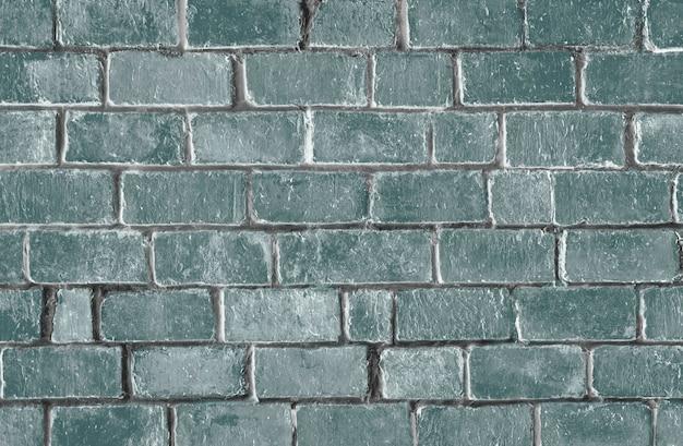 緑の質感のレンガの壁の背景 無料写真