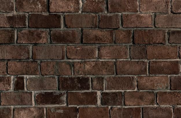 茶色のテクスチャのレンガの壁の背景 無料写真