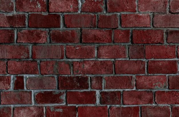 赤い質感のレンガの壁の背景 無料写真