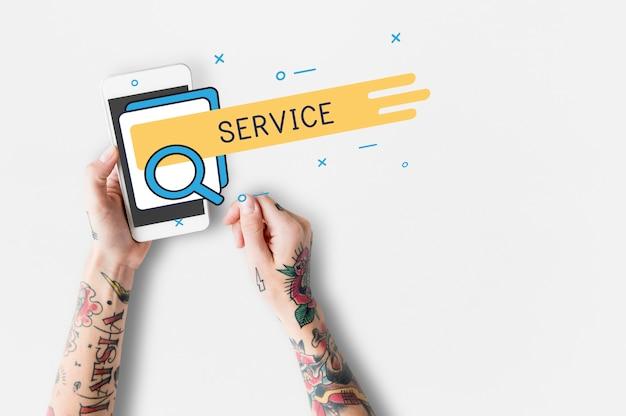 顧客満足サービスケアオンラインサービス 無料写真
