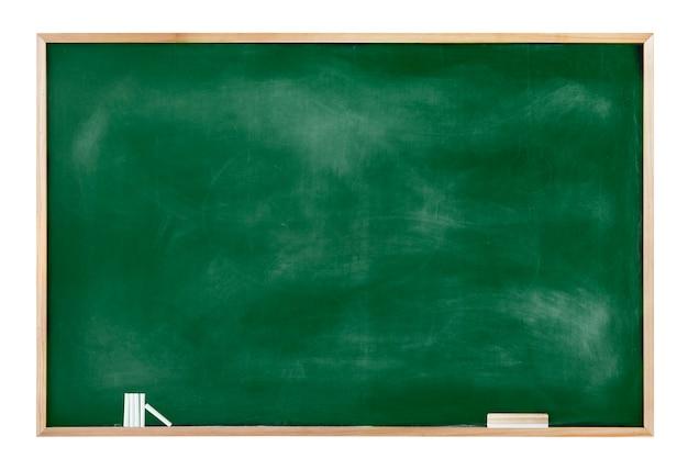 チョークと消しゴムを備えた質感のある黒板 無料写真