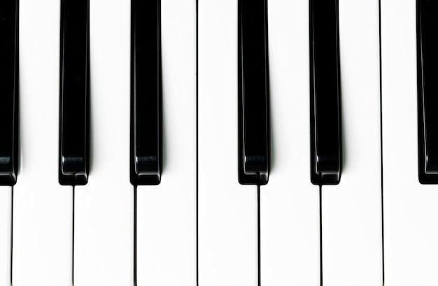ピアノキーボードのクローズアップ 無料写真