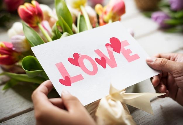 幸せなバレンタインカード 無料写真