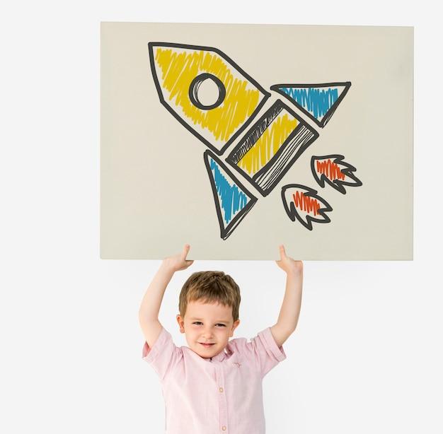 ロケット宇宙船の目標打ち上げスタートアップの成功 Premium写真