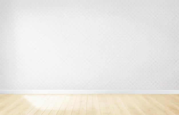 木製の床と空の部屋でパステル調の壁紙 無料写真