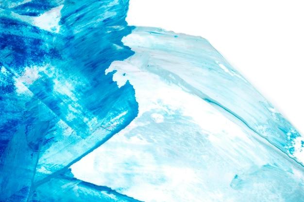 青と白のブラシストロークのテクスチャ背景 無料写真