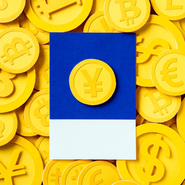 日本円通貨のお金のシンボル 無料写真