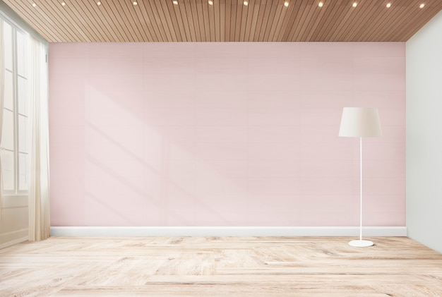 Стоящая лампа в розовой комнате Бесплатные Фотографии