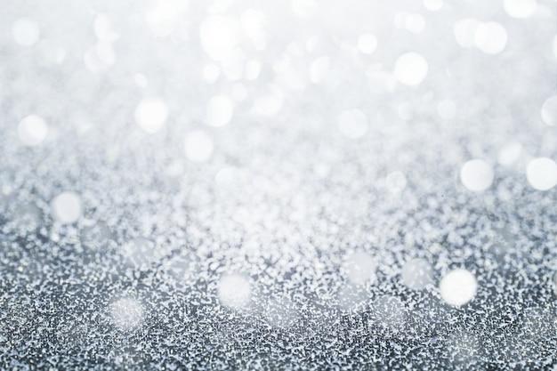 キラキラの銀色の背景 無料写真