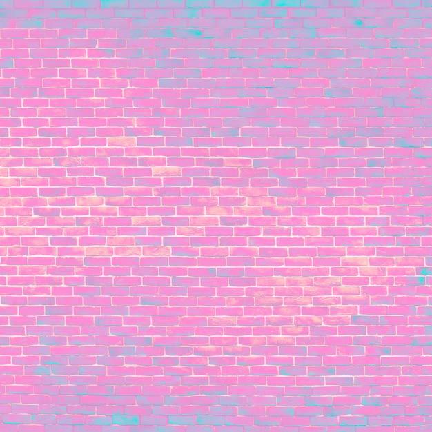 明るいピンクのレンガの背景 無料写真