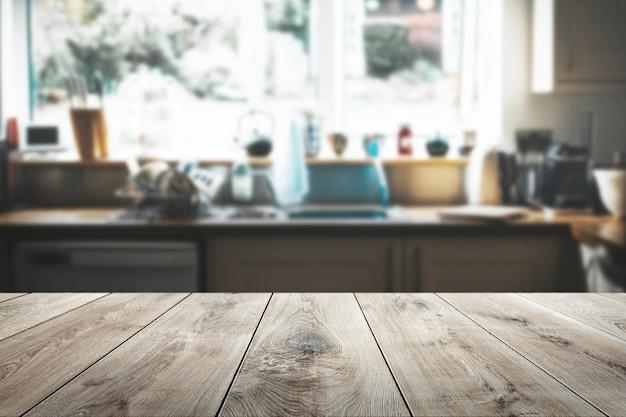 木製のテーブル製品の背景 無料写真