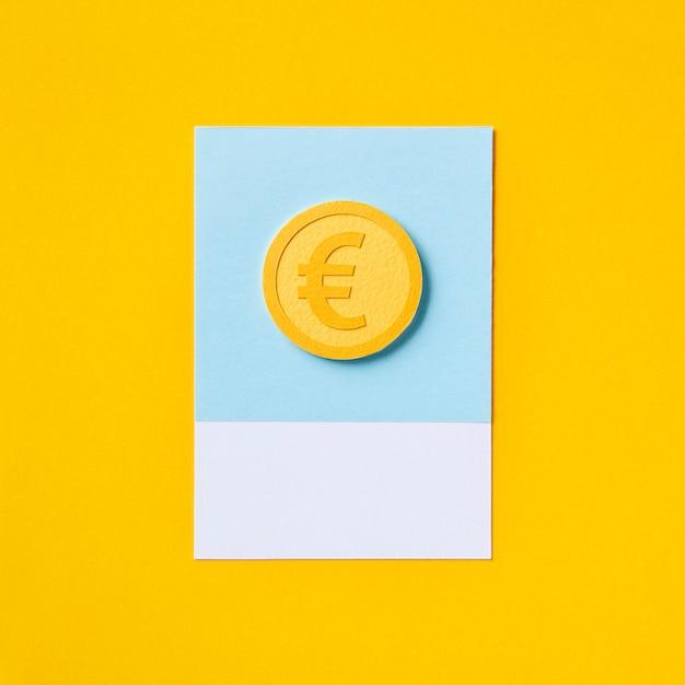 ヨーロッパのユーロ通貨のお金のシンボル 無料写真