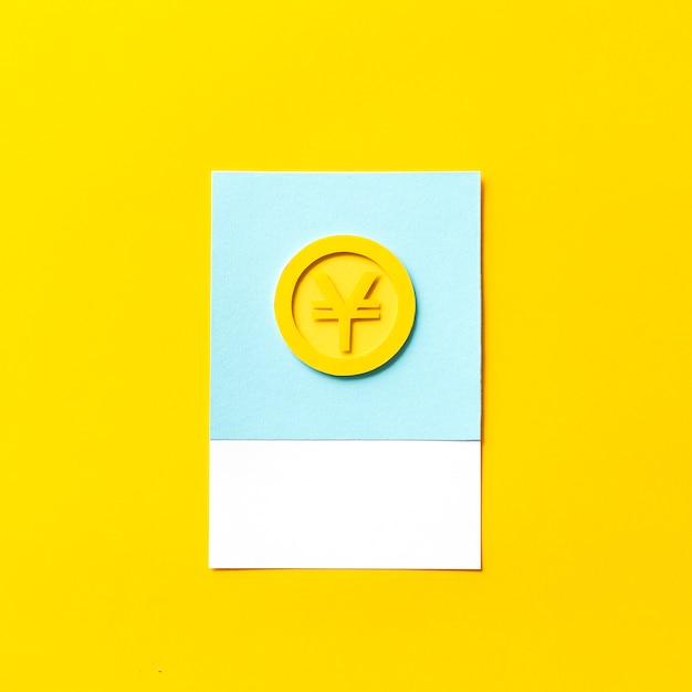 円貨のペーパークラフトアート 無料写真