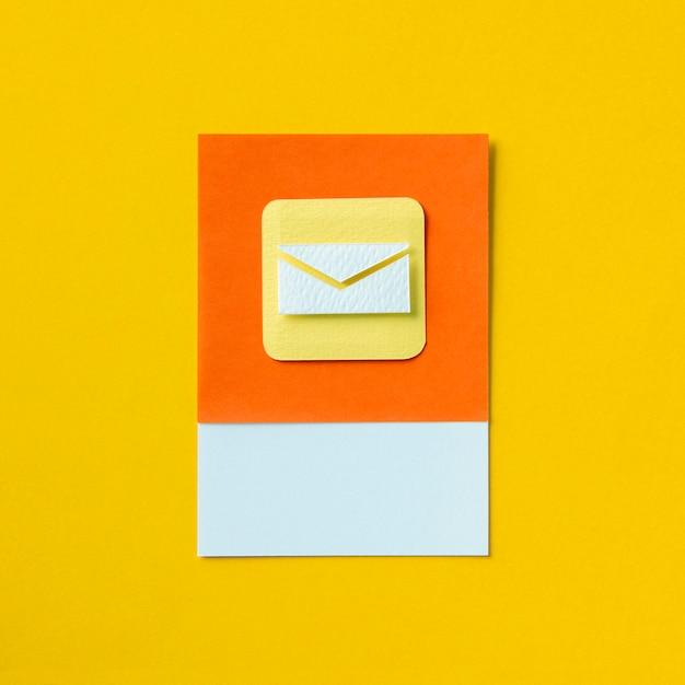 電子メールの受信トレイ封筒のアイコンの図 無料写真