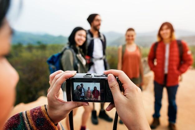 Концепция фотографирования друзей Premium Фотографии